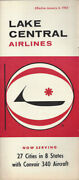 Lake Central Airlines System Timetable 1/4/65 [0112]