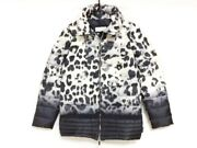 Auth Moncler Leucate Cream Black Gray Womens Down Jacket 00