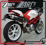 Zard Carbon Racing High Mount Full Exhaust System For Ducati Monster S4r