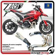 Zard Full Exhaust Steel Approved Limited Edition Ducati Hypermotard 821 Sp 13