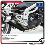 Zard Exhaust Titanium Black Silencer Approved For Triumph Speed Triple 955 04