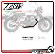 Zard Racing Collector In Black Steel For Moto Guzzi V7 Cafe Racer/classic 2013