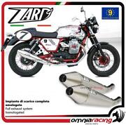 Zard Full Exhaust Polished Steel Street Legal Guzzi V7 Cafe Racer /classic 09