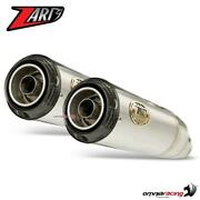 Zard Pair Of Exhaust Steel Racing With Carbon Cap Triumph Speed Twin 1200 2019