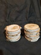 12 Birch Wood Slices 4 Diameter. Wood Crafts Wedding Coasters Ornaments Holiday