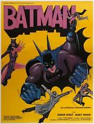 Batman French Grande Orson And Welles Original Film/movie Posters Linen Backed