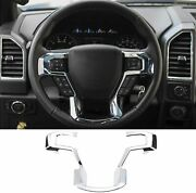 Steering Wheel Trim Cover Abs Interior Kits Chrome For Ford F150 2015-2021 T