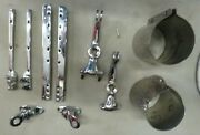 1945-1950 Mg Tc Head Light Fender Braces Windshield Supports Misc Chromed Parts