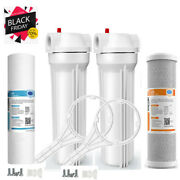 Whole House Water Filter System 2.5 X 10 White 2 Stage Filtration 3/4 Inlet