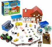 Kids Animal Figures Farm Playset Toy Pretend Toddler 44 Pc Barn Stable New