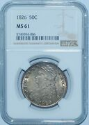 1826 Ngc Ms61 Capped Bust Half Dollar