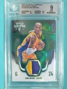 2015-16 Totally Certified Kobe Bryant 2/5 Patch Green Bgs 9 La Lakers Ssp Gf