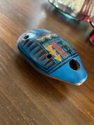 Indian Native Whistle Ceramic Hand Painted Beautiful Blue Colors Pottery