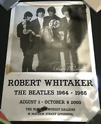 The Beatles Ltd Edition Gallery Poster Signed By Photographer Robert Whitaker