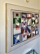 Large Beautiful Colorful Agam Lithograph Encased In Acrylic Frame Signed Numberd