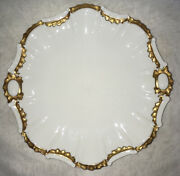 Rare Large 12andrdquo Tressemann And Vogt Coiffe Limoges Plate Platter Whitewear Gold