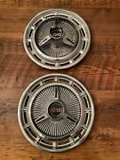 2x 1966 Chevrolet Impala Ss Spinner Hubcap Chevy Wheel Cover 1966 1967 14 Wheel