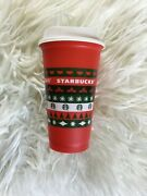 Starbucks 2020 Reusable Cup Grande 16oz Red Holiday Xmas Christmas Sold Out