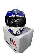 Jimmie Johnson Lowes Autographed Signed Full Size Replica 6x Collectors Helmet