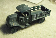 Unique Vintage Cast Iron Green Stake Bed Truck 4 3/4 Long