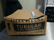 Vintage Steel Strong Tubular Coin Wrappers No T1025 10 Quaters
