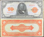 Reproduction 1913 50 Bill Gold Certificate Grant Us Currency Copy