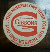 50 Gibbons The Number One Beer For The Number One Guy Beer Coasters