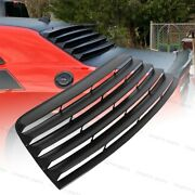 Rear Window Louver Fits For Dodge Challenger 2008-2019 Muscle Car Style Black