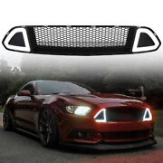 Front Hood Upper Rtr Grille White Drl Led For Ford Mustang 2015-2017