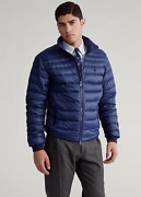 Polo Menand039s Navy Water-repellent Packable Puffer Quilted Down Jacket