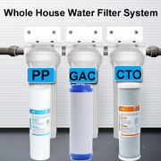 3 Stage Whole House Water Filtration System 2.5 X 10 Water Filter Sediments