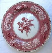 Spode..camilla Red Pink..earthenware..dinner Plate..england..10-1/2..mint