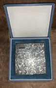 Antique 950 Sterling Silver Finely Chased Makeup Powder Compact And Original Case