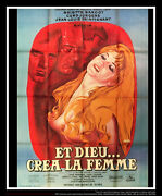 And God Created Woman 4x6 Ft French Grande Rerelease Movie Poster 1956