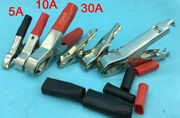 2-50 Pairs 5a 10a 30a Plated Clamps Insulated Boots Battery Alligator Clips Clam