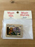 Vintage Disney Winnie The Pooh Pin Canada 45 Cent Stamp1996 Made In Canada