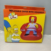 The Simpsons Inflatable Chair With Headrest And Drinks Holder New In Box