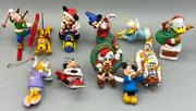 Lot Of 11 Vintage Disney Mickey Mouse And Friends Christmas Ornaments.