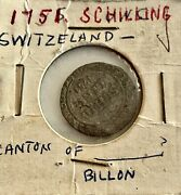 1751- Switzerland 1 Silver Shilling See Other Coins, Gold, Jewelry