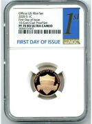 2020 S Proof Lincoln Cent Ngc Graded Pf 70 Rd Ultra Cameo First Day Of Issue