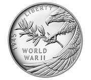 Us Mint End Of World War 2 75th Anniversary Eagle Silver Proof Medal Free Ship