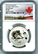 2018 10 Canada Silver 10 Dollar 100th Armistice Wwi Ngc Sp70 First Releases