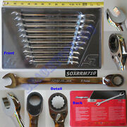 New Snap On 10 Pcs 12 Pts Metric Combination Reversible Ratchet Wrench Soxrrm710