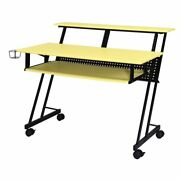 Suitor Music Recording Studio Desk In Yellow And Black