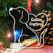 Personalized Dog Christmas Ornaments For Tree Custom Engraved Puppy Decorations