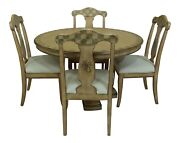 Lf25757ec Pulaski Paint Decorated Round Table And Chairs Dining Set