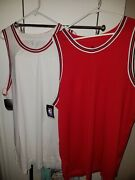 2 Nike Aeroswift Nba White/red Chicago Solid Blank Basketball Jersey Size 56