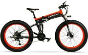 26 Fat Tires Mountain E-bike Folding Electric Bicycle 1000w 48v 10ah