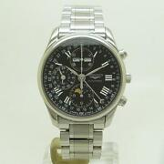 Longines Watch L2.673.4.51.6 Master Collection Moonphase Chronograph Ooverhauled
