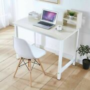 Wood Computer Desk Pc Laptop Table Study Workstation Office Home Furniture Oak